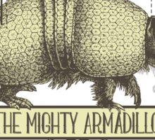 Funny animal mighty armadillo vintage super hero Sticker