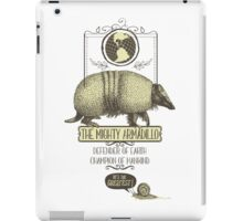 Funny animal mighty armadillo vintage super hero iPad Case/Skin