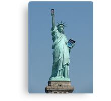 Statue of Liberty holding Mobile & ipad Canvas Print