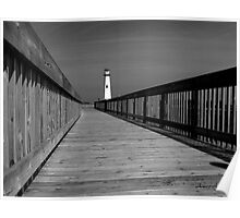 American Wood Way Black and White Poster