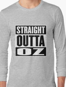 Straight Outta Oz - Dorothy & Toto in the Hood - Movie Mashup - Not in Kansas Anymore Long Sleeve T-Shirt