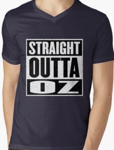Straight Outta Oz - Dorothy & Toto in the Hood - Movie Mashup - Not in Kansas Anymore Mens V-Neck T-Shirt