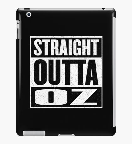 Straight Outta Oz - Dorothy & Toto in the Hood - Movie Mashup - Not in Kansas Anymore iPad Case/Skin