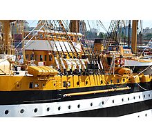Sailing ship in the port Photographic Print