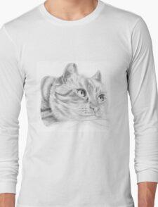 Pencil cat Long Sleeve T-Shirt