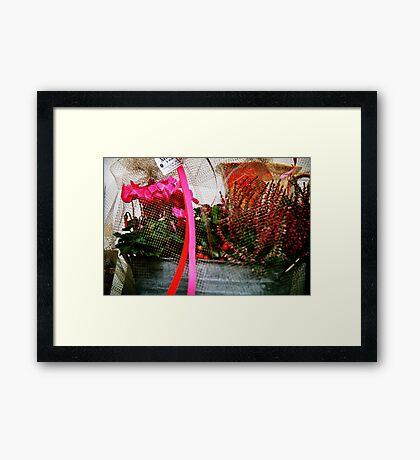 Support Breast Cancer  Framed Print