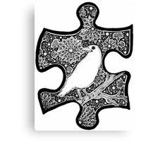 White Raven - Circle of Light Canvas Print