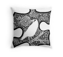 White Raven - Circle of Light Throw Pillow
