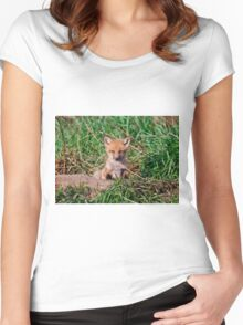 Who can resist this face - Ottawa, Ontario Women's Fitted Scoop T-Shirt