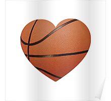 Basketball Heart Poster