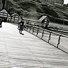 Saltburn Pier black and white by lendale