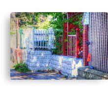 Backyard fence Canvas Print