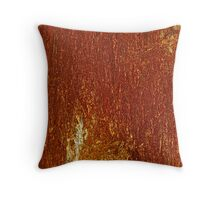 """Psychedelic bizzare landscape of rusty. """"Rusty Cage"""" by Johnny Cash & Brown Sugar . Throw Pillow"""