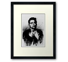 Rebel Half Tone Framed Print