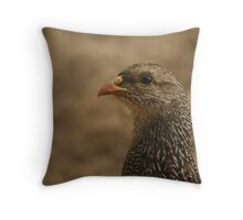 Natal Spurfowl Throw Pillow