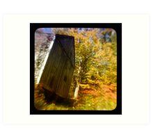 TTV- the old barn through morning light Art Print