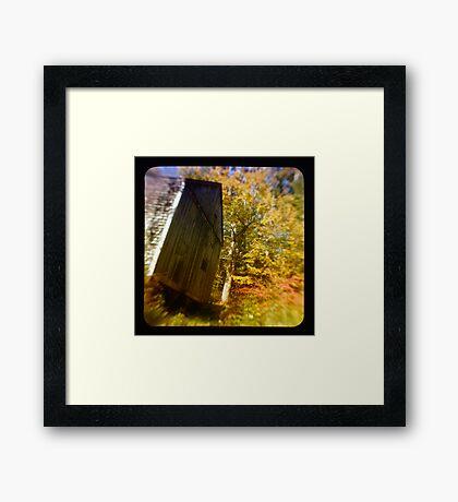 TTV- the old barn through morning light Framed Print