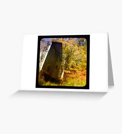TTV- the old barn through morning light Greeting Card