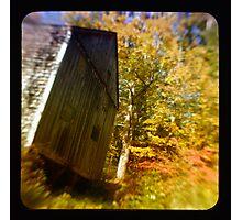 TTV- the old barn through morning light Photographic Print