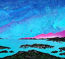 Moon Light Over Rum And Sanna Bay, Ardnamurchan Peninsula.40 by Andrew Peutherer