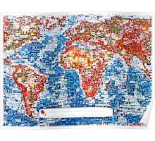 Vintage Global Positioning System (GPS) postcard Poster