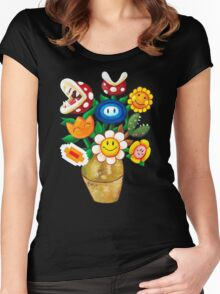 Mario Van Gogh's Flower Vase Women's Fitted Scoop T-Shirt