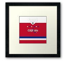 Washington Capitals Alternate Jersey Framed Print