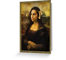 Gioconda Winehouse Greeting Card
