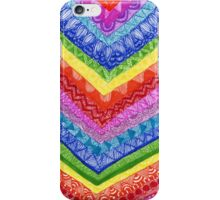 rainbow zentangle pattern  iPhone Case/Skin