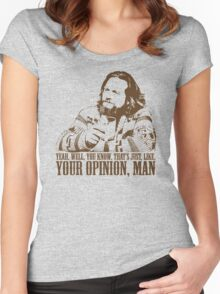 The Big Lebowski Just Like You're Opinion T-Shirt Women's Fitted Scoop T-Shirt