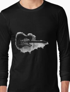 black and white electric guitar Long Sleeve T-Shirt