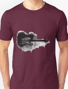 black and white electric guitar Unisex T-Shirt