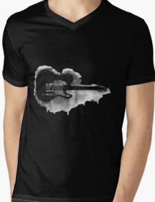 black and white electric guitar Mens V-Neck T-Shirt