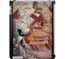Kaiju, Samurai, Art, Monster, Godzilla, drawing, ultraman, gamera, japanese, sci fi, horror, science fiction, japan, sword, joe badon iPad Case/Skin