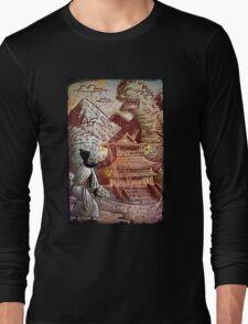 Kaiju, Samurai, Art, Monster, Godzilla, drawing, ultraman, gamera, japanese, sci fi, horror, science fiction, japan, sword, joe badon Long Sleeve T-Shirt