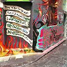 Melbourne Graffiti ~ photography by Roz McQuillan by Roz McQuillan