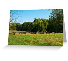 Willow Tree Landscape Greeting Card
