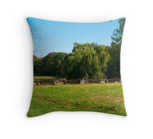 Willow Tree Landscape Throw Pillow