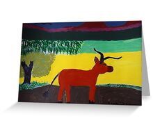 The Bull Greeting Card