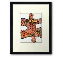 "Puzzle Collaboration Piece ""Just another piece in the puzzle of life"" Framed Print"
