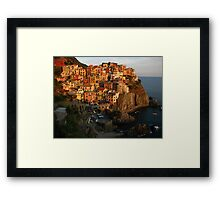 Seaside Paradise, Cinque Terre, Italy 2015 Framed Print