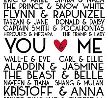 Disney Couples + You & Me by Osbanologie