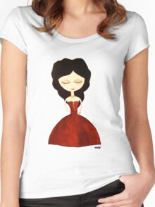 Red princess Women's Fitted Scoop T-Shirt