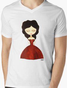 Red princess Mens V-Neck T-Shirt