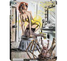 Pin Up, Girl, The Thing, Art, Print, Spider, Head, 50's, Elvgrin, Elvgren, John Carpenter, Dressing Room, Joe Badon, illustration, drawing, sexy, horror iPad Case/Skin
