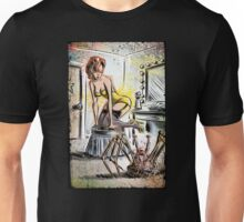 Pin Up, Girl, The Thing, Art, Print, Spider, Head, 50's, Elvgrin, Elvgren, John Carpenter, Dressing Room, Joe Badon, illustration, drawing, sexy, horror Unisex T-Shirt