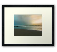 The pier and the beach Framed Print
