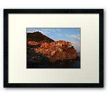 Sun-kissed Manarola, Cinque Terre, Italy 2015 Framed Print