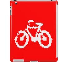 1 bit pixel bike (white) iPad Case/Skin
