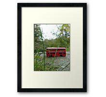 ..Really Little Red Bus Framed Print